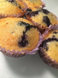 Cornbread Blueberry Muffins